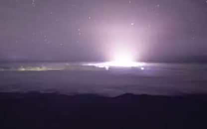 Hawaii, l'eruzione del vulcano Kilauea vista in timelapse. VIDEO
