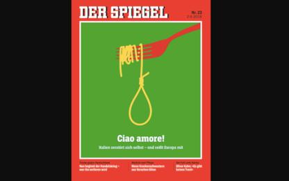 """Der Spiegel: """"Ciao Amore!"""". Copertina provocatoria contro l'Italia"""