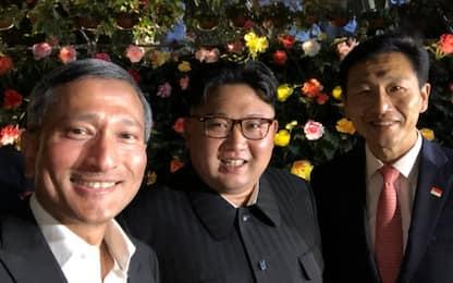 Il primo selfie di Kim Jong-un a Singapore