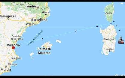 Nave Aquarius cambia rotta per il maltempo, verso la Sardegna