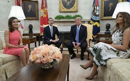 I reali di Spagna in visita alla Casa Bianca. FOTO