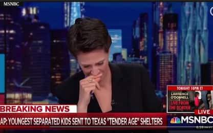 Usa, giornalista in lacrime mentre legge notizia su bimbi migranti