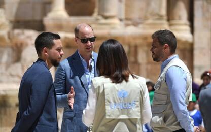William visita la Giordania