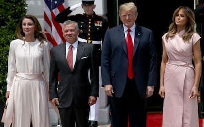 I Trump e i reali di Giordania