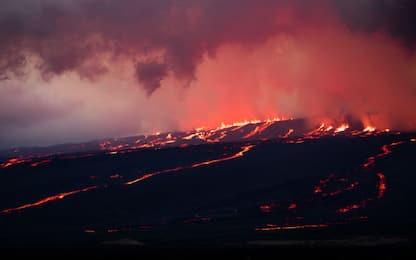 L'eruzione di un vulcano alle Galapagos