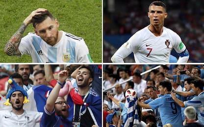 Mondiali, festa di Francia e Uruguay