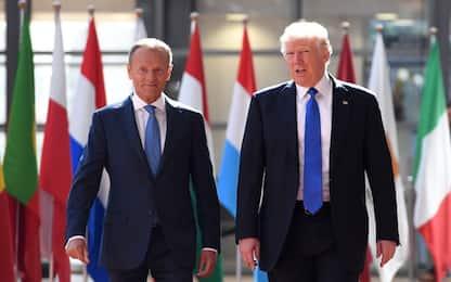 Trump: Ue nostro nemico, in parte anche Cina e Russia. Tusk: fake news