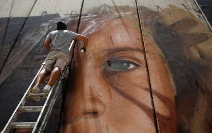 Rilasciato Jorit, lo street artist italiano arrestato a Betlemme