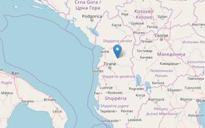Terremoto in Albania, scossa di magnitudo 5.2 a 40 km da Tirana