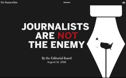 Usa, oltre 300 giornali contro Trump: vogliamo stampa libera