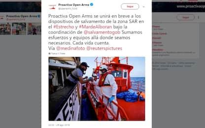 Open Arms lascia le coste della Libia: si sposterà verso la Spagna