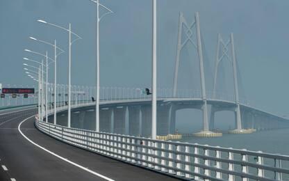 Cina, ponte dei record verso l'apertura: da Hong Kong a Macao sul mare