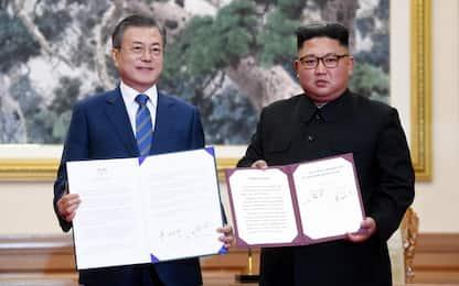 Coree, accordo Kim-Moon per ridurre tensioni e bloccare il nucleare