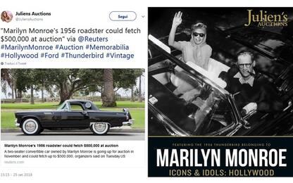 Marilyn Monroe, all'asta a Los Angeles la sua Ford Thunderbird del '56