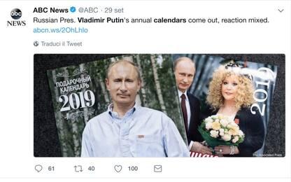 In vendita in Russia i calendari 2019 di Vladimir Putin