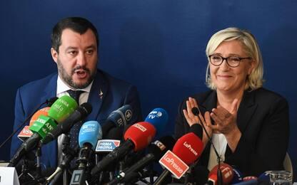 """Salvini e Le Pen: """"A maggio la rivoluzione del buon senso in Europa"""""""