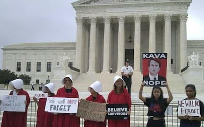 Corte Suprema, proteste contro Kavanaugh