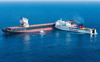 Collisione navi in Corsica: aperta inchiesta per disastro ambientale