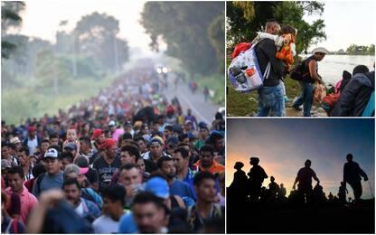 Migranti, in migliaia in marcia dal Centro America verso gli Usa. FOTO