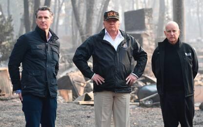"""Trump: """"Rastrello contro incendi come in Finlandia"""", ironia sui social"""