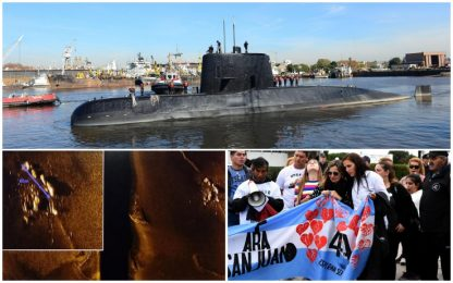 Argentina, giudice: per ora nessun recupero sottomarino Ara San Juan