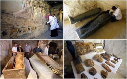 Egitto, scoperta una nuova tomba con due sarcofagi a Luxor