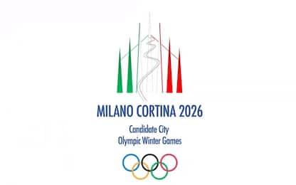 """Olimpiadi Milano-Cortina, svelato il logo. Malagò: """"Sogno sarà realtà"""""""