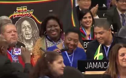 Reggae patrimonio dell'Unesco, delegati Onu cantano Bob Marley. VIDEO