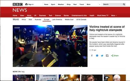 Tragedia a Corinaldo, la notizia sui siti stranieri