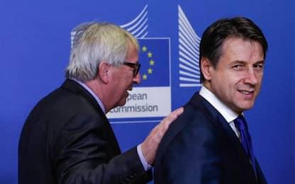"""Manovra, incontro Conte-Juncker. Il premier: """"Deficit scende al 2,04%"""""""