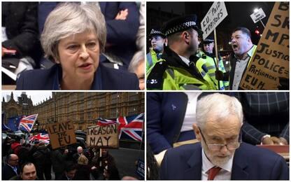 Brexit, Westminster boccia accordo con Ue: le immagini