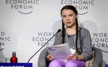 """Clima, appello della 16enne Greta a Davos: """"Dovete entrare in panico"""""""