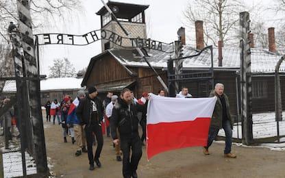 Giorno memoria, i militanti di estrema destra ad Auschwitz