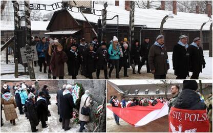 Giorno della memoria, cerimonia ex prigionieri ad Auschwitz