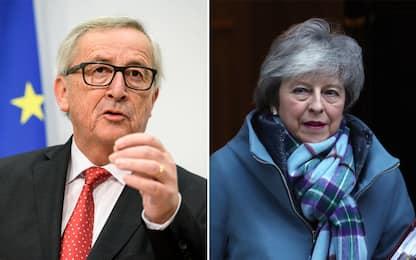 """Brexit, Juncker chiude a May: """"L'accordo non sarà rinegoziato"""""""