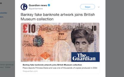 "Una banconota ""falsa"" di Banksy sarà esposta al British Museum"