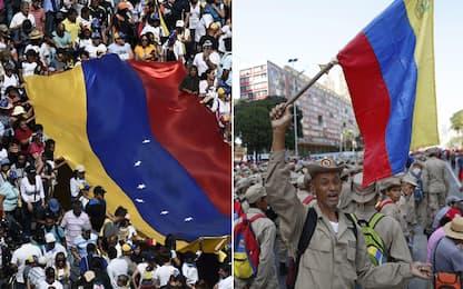 Venezuela, manifestazioni per Guaidó e Maduro