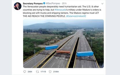 Venezuela, Maduro blocca gli aiuti umanitari. FOTO