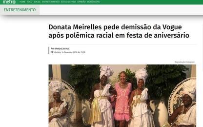 "Direttrice Vogue Brasile si dimette dopo polemica su foto ""schiaviste"""