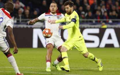 Champions League, Lione Barcellona 0-0: highlights