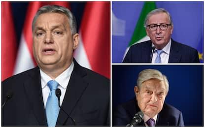 Ungheria, Orban lancia campagna anti-Juncker e Soros sui migranti