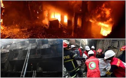 Bangladesh, vasto incendio a Dacca: oltre 70 morti