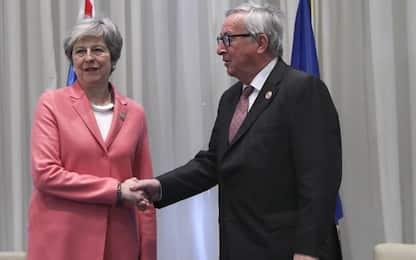 """Brexit, incontro Juncker-May: """"Progressi, conclusioni entro 21 marzo"""""""