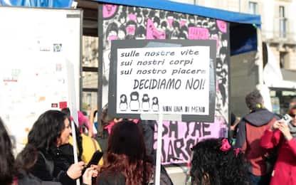 8 marzo, le manifestazioni di Milano e Torino. FOTO