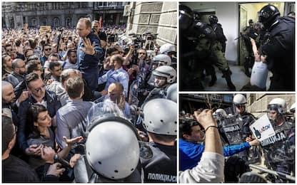 Serbia, proteste contro Vucic. Scontri a Belgrado