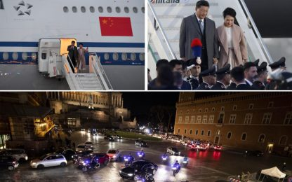 Xi Jinping a Roma, inizia il vertice Italia-Cina