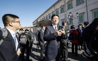 Via della Seta, la delegazione cinese al Quirinale. FOTO