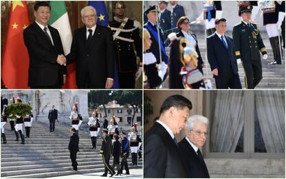 Xi Jinping a Roma: le foto dell'incontro con Mattarella