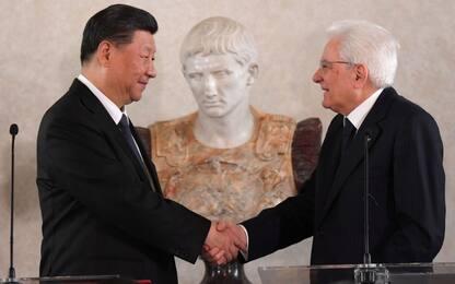 """Roma, Xi Jinping a Mattarella: """"Commosso dalla sua amicizia"""""""