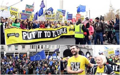 """No Brexit, la marcia a Londra: """"Siamo un milione"""". FOTO"""